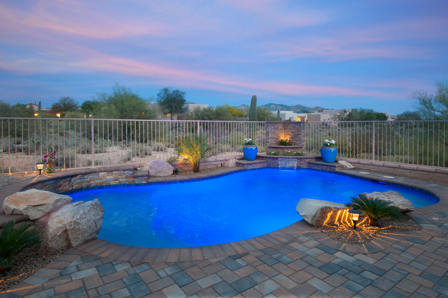 Tucson pool builders encantada pools inc for Pool design tucson